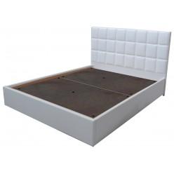 Двуспальная кровать с мягким изголовьем без подъемного механизма Агата AGATA в кожзаме D0195