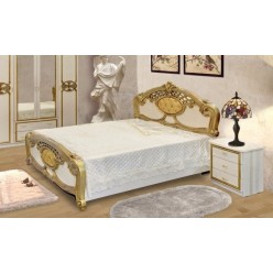 Двуспальная кровать Ольга (беж/золото)