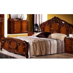 Двуспальная кровать Ольга (орех)