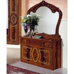 Комод с зеркалом в спальню Роза (орех)