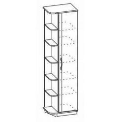 Одностворчатый шкаф-стеллаж Ниола НИ-220.24