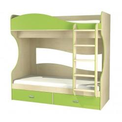 Детская двухъярусная кровать с ящиками внизу Комби МН-211-06