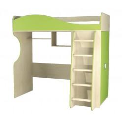 Детская кровать чердак с рабочей зоной и шкафом Комби МН-211-01-АКЦИЯ!