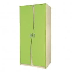 Двухстворчатый детский распашной шкаф для одежды со штангой Комби МН-211-16