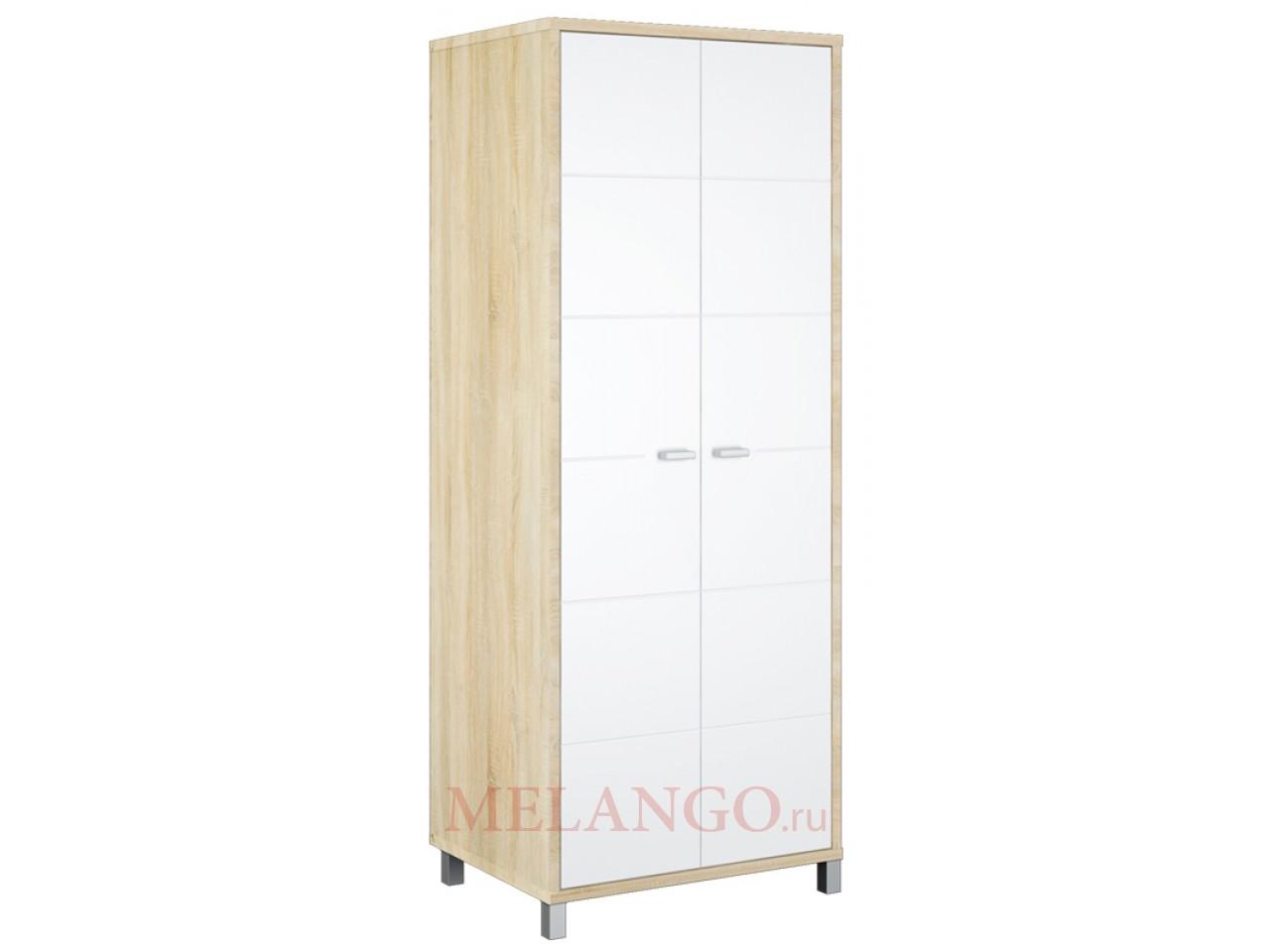 Двухстворчатый шкаф для одежды со штангой Домино Сонома ВК-04-03