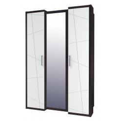 Трехдверный шкаф гардероб для одежды с зеркалом Барселона МН-115-03
