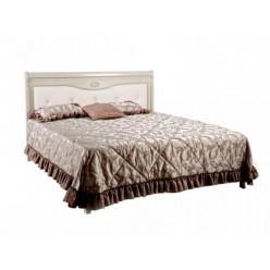 Двуспальная кровать Лика ММ-137-02/Б (белая эмаль) без изножья
