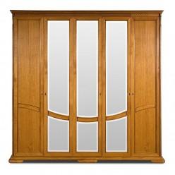Шкаф для одежды Лика ММ-137-01/05 (медовый дуб)