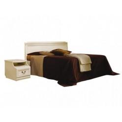 Двуспальная кровать Нинель ММ-167-02 (белая эмаль)