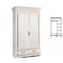 Шкаф для одежды Оскар ММ-216-01/02Б (белая эмаль)