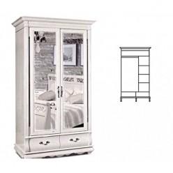 Шкаф для одежды Оскар ММ-216-01/02 (белая эмаль)