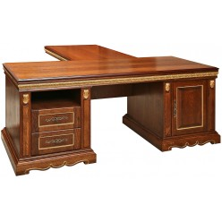 Письменный стол «Милана 2П» П396.02 черешня с золочением