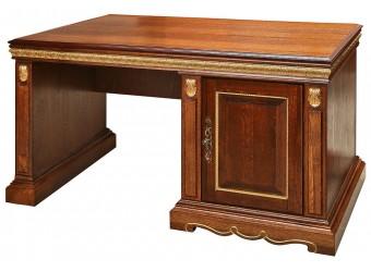 Письменный стол «Милана 3П» П396.06 (черешня с золочением)