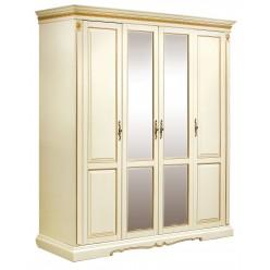 Шкаф для одежды «Милана 02» П294.02 (слоновая кость с золочением)