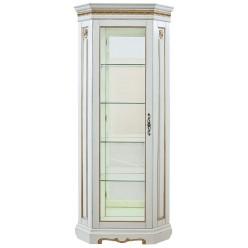 Шкаф-витрина для гостиной «Милана 10» П265.10-01 (слоновая кость с золочением)