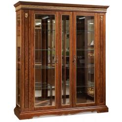 Шкаф-витрина для гостиной «Милана 11» П265.11 (черешня с золочением)
