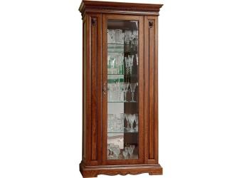 Шкаф-витрина для гостиной «Милана 8» П265.08 (черешня)