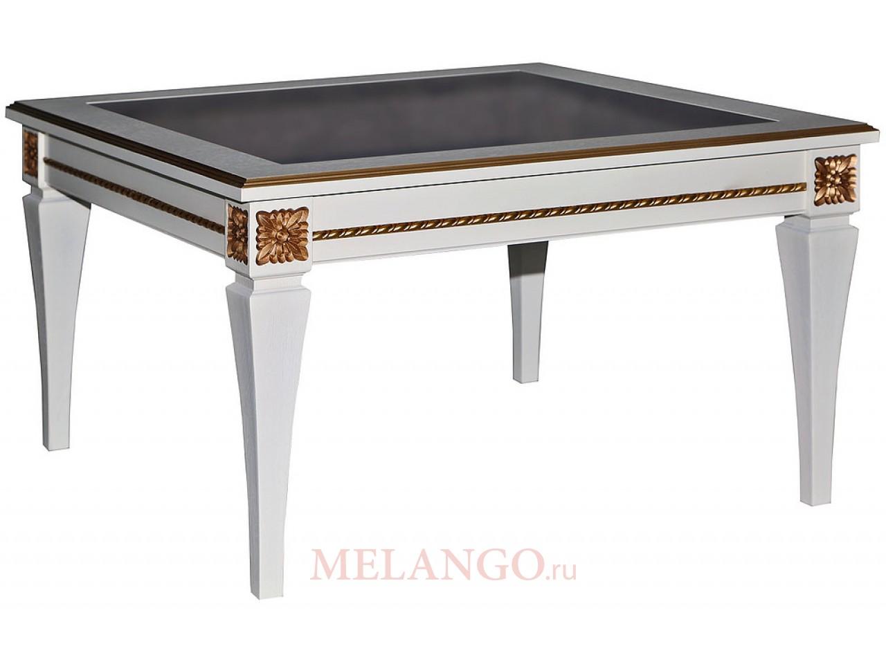 Журнальный стол «Милана 05» П366.05 (слоновая кость с золочением)