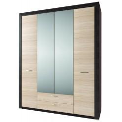 Четырехстворчатый шкаф для одежды с зеркалом Денвер 4D2S Z
