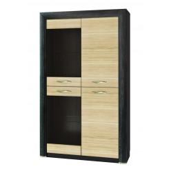 Шкаф-витрина для посуды Денвер 2V2D