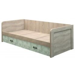 Односпальная кровать Дизель 90-2/D2 энигма с выдвижными ящиками