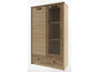 Шкаф-витрина Дизель 1V1D1SL/D1 дуб веллингтон