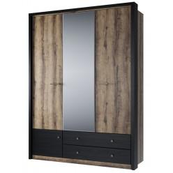 Трехстворчатый шкаф для одежды с зеркалом Джаггер 3DG2S Z