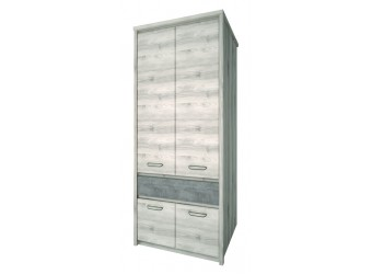 Двухстворчатый шкаф для одежды Джаз 4DG1S оникс