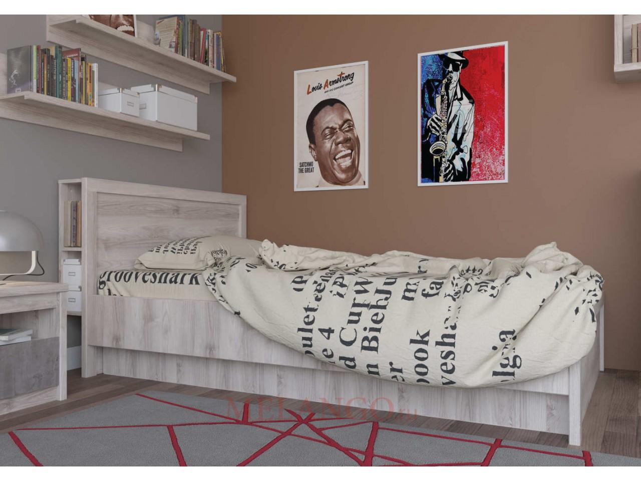 Двуспальная кровать Джаз 160 P с полками