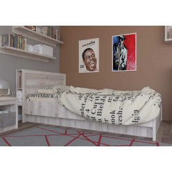 Односпальная кровать Джаз 120 P с полками