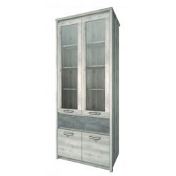 Шкаф-витрина для посуды Джаз 2V2D1S оникс