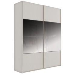 Шкаф-купе для одежды с зеркалом Комфорт 180 Z крем вудлайн