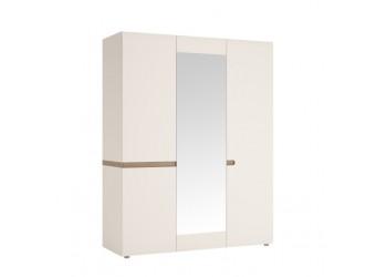 Трехстворчатый шкаф для одежды с зеркалом Линате 3D/TYP 22A