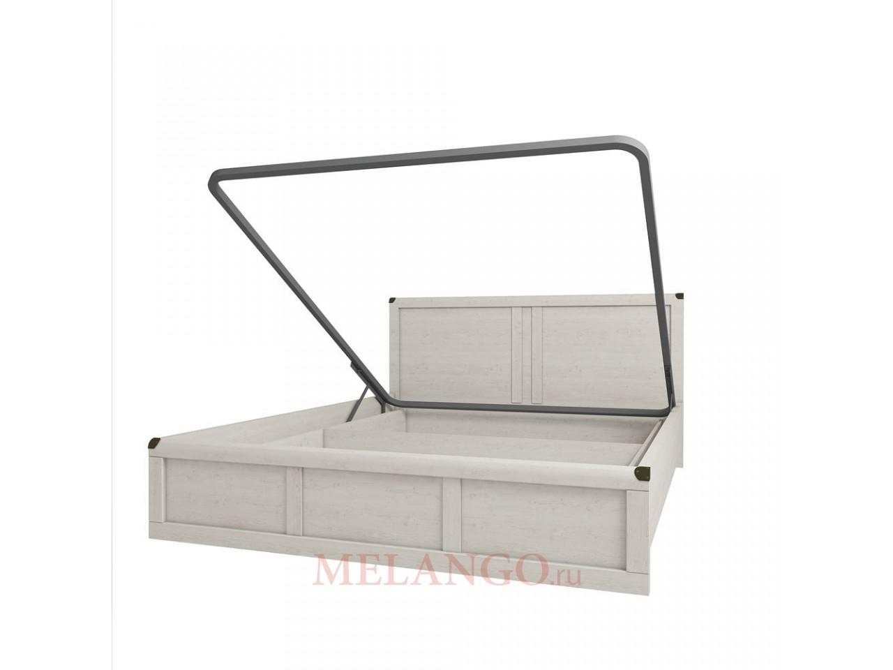Двуспальная кровать Магеллан 160 сосна винтаж с подъемным механизмом