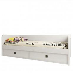 Односпальная кровать Магеллан 90-2 сосна винтаж с выдвижными ящиками