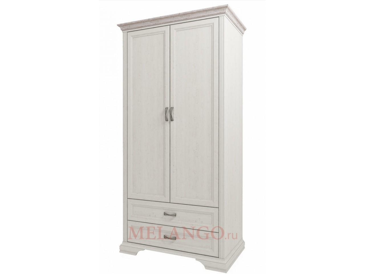 Двухстворчатый шкаф для одежды Монако 2DG2S