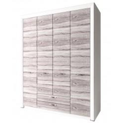 Четырехстворчатый шкаф для одежды Оливия 4D2S