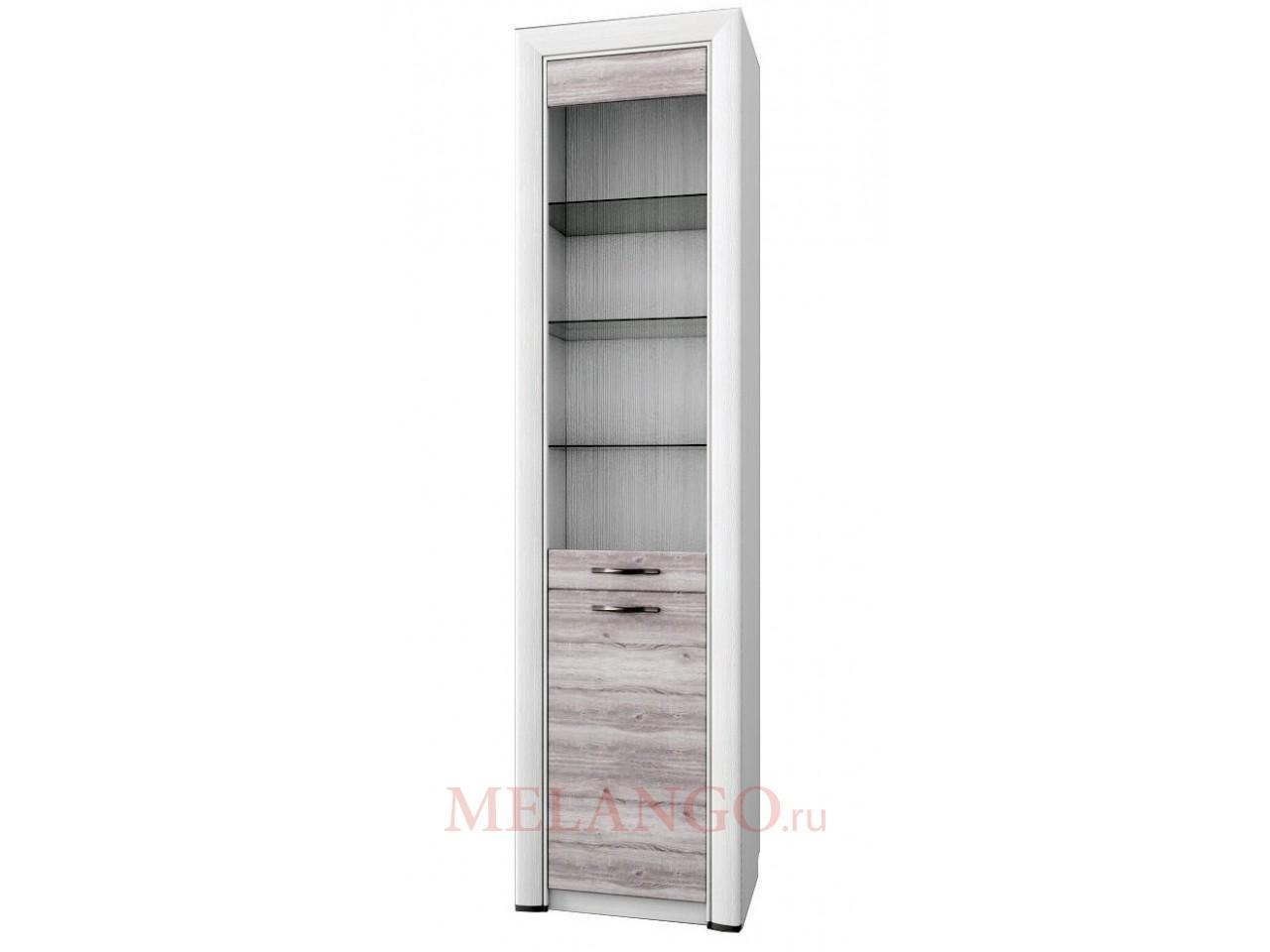 Шкаф-витрина для посуды Оливия 1V1D Распродажа!