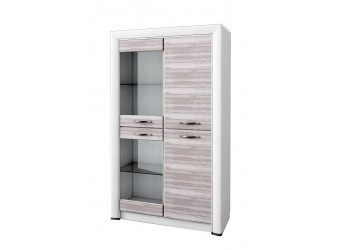 Шкаф-витрина для посуды Оливия 2V2D