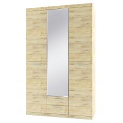 Трехстворчатый шкаф для одежды с зеркалом Оскар 3D2S