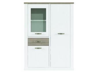 Шкаф-витрина для посуды Прованс 1V2D1S