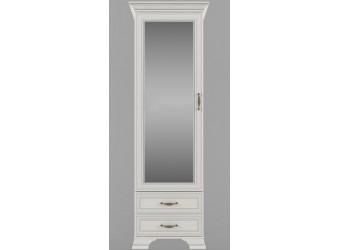 Шкаф-пенал для одежды с зеркалом Тиффани 1Z2S крем вудлайн