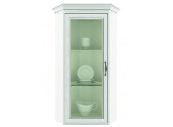 Угловой шкаф-витрина для посуды Тиффани 1VU крем вудлайн