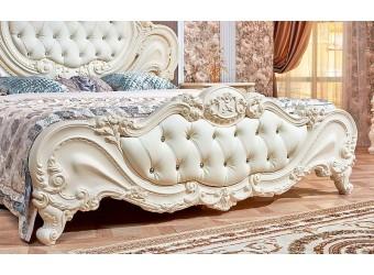 Кровать Элиза Люкс (крем) 1600х2000