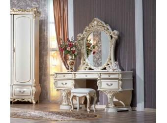 Туалетный столик с зеркалом Каролина (крем)