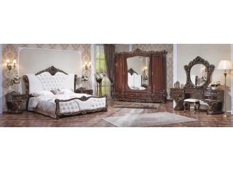 Спальня Каролина (темный орех) 5-и дверный шкаф
