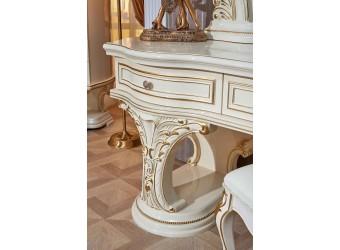 Туалетный столик с зеркалом Латифа (крем)