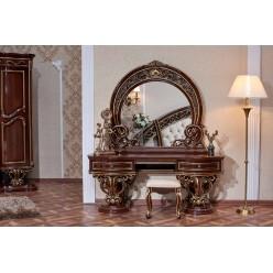 Туалетный столик с зеркалом Марелла (темный орех) распродажа!
