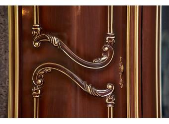 Шкаф 6-х дверный Марелла (темный орех)