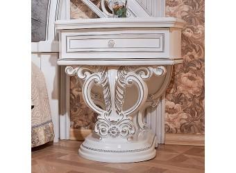 Тумба прикроватная Марелла (белый с серебром) комплект из 2 штук